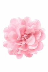 Bows Arts Light Pink Mini Sparkle Chiffon Flower