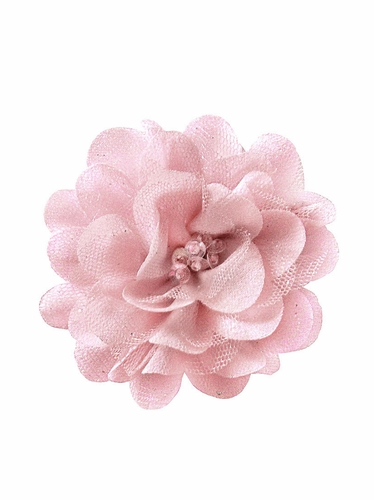 Bows Arts Mauve Mini Sparkle Chiffon Flower