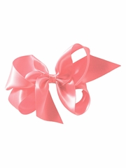 "Bows Arts Pink 5"" Sweetheart Satin Clip"