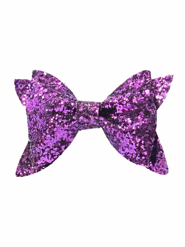 Bows Arts Purple Glitter Bow