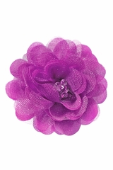 Bows Arts Purple Mini Sparkle Chiffon Flower