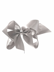 "Bows Arts Silver 5""� Sweetheart Satin Clip"
