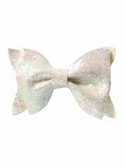Bows Arts White Glitter Bow