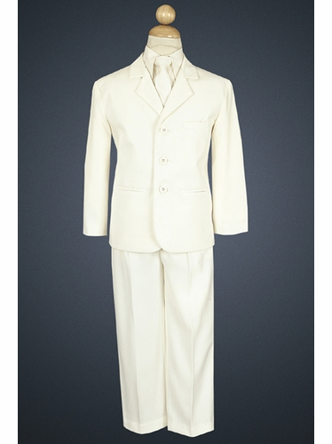 Boy's Ivory 5 Piece Suit