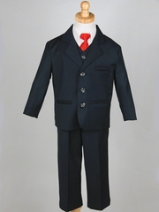 Boy's Navy 5 Piece Suit