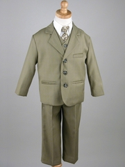 Boy's Olive 5 Piece Suit