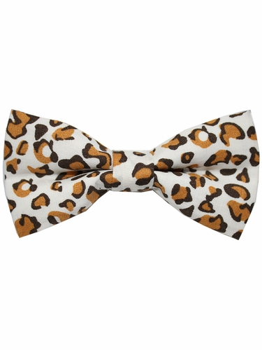 Boys Leopard Print Wrap- Around Bowtie
