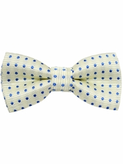 Boys Yellow & Blue Polka Dots Print Wrap- Around Bowtie