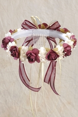Burgundy Vintage Headpiece - Rosie