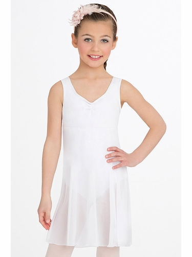 Capezio Child White Empire Dress