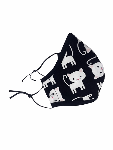 Cats Print 100% 2-Ply Cotton Face Shaped Mask
