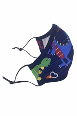 Child Dinosaur 2-Ply 100% Cotton Face Shaped Mask