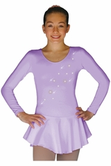 ChloeNoel DLP728 Solid Lilac w/ Snow Flakes Poly Spandex Dress