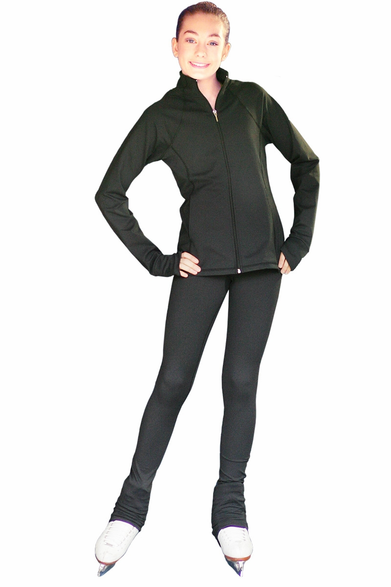 9a7c5b109e99f ChloeNoel Ice Skating Outfit - Black JS792 Ice Skating Jacket and ...