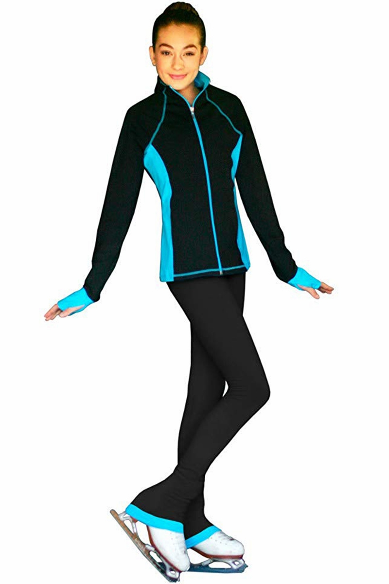 594374d90aa40 ChloeNoel Ice Skating Outfit - Turquoise JS792 Ice Skating Jacket and ...