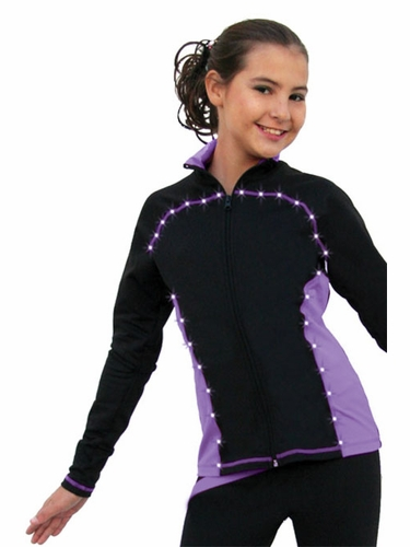 ChloeNoel Purple Princess Seam Jacket w/ Swarovski Crystals