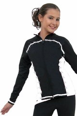 ChloeNoel White Princess Seam Jacket w/ Swarovski Crystals