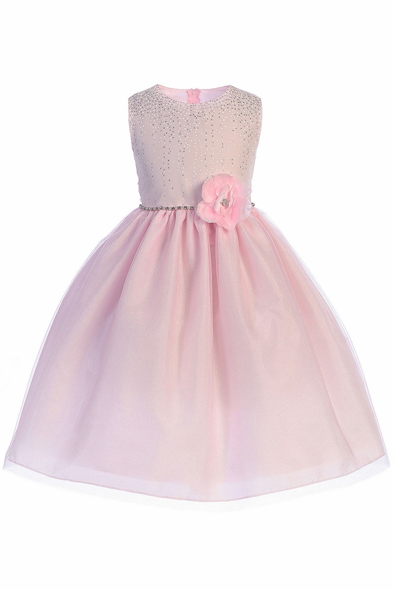2ac264b0611b Crayon Kids 391 Pink Shimmering Dotted Bodice w  Tulle Skirt