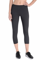 Danskin 1561 Women's Dark Gray Classic Supplex Body Fit Capri Legging