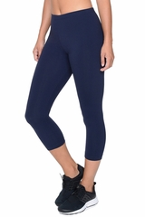 c69e0db715bdf Danskin 1561 Women's Navy Classic Supplex Body Fit Capri Legging