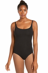 Danskin 1978 Women's Black Cotton Camisole Leotard