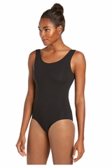 Danskin 1979 Women's Black Scoopneck Cotton-Blend Leotard