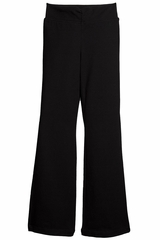 Danskin 1993 Girls' Black Shirred Waist Bootleg Pant