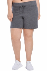 Danskin 2698 Womens' Charcoal Grey Essential Drawcord Short