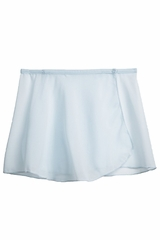 Danskin 2376 Girl's Ethereal Blue Snap-Front Sheer Wrap Skirt