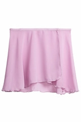 Danskin 2376 Girl's Lavender Snap-Front Sheer Wrap Skirt