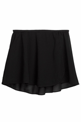 Danskin 2376 Girl's Rich Black Snap-Front Sheer Wrap Skirt