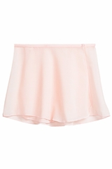 Danskin 2376 Girl's Theatrical Pink Snap-Front Sheer Wrap Skirt
