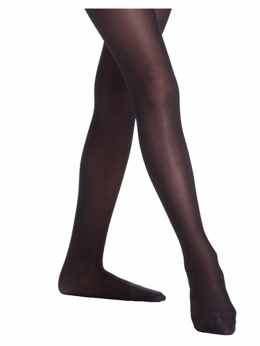 Danskin Girls Black Ultra Shimmery Footed Tights