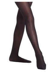 Danskin 331 Girl's Black Ultra Shimmery Footed Tights