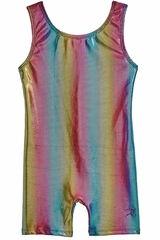 Danskin 3736 Girl's Rainbow Bright Gymnastics Biketard