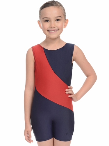 Danskin 3736 Girl's Red Arch Gymnastics Biketard