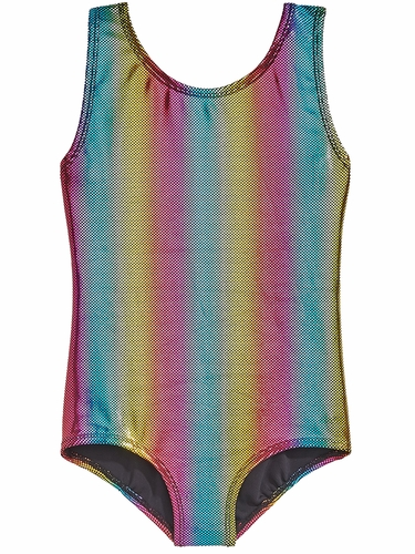 Danskin 3810 Girl's Rainbow Bright Gymnastics Leotard