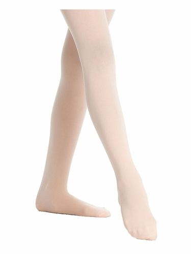 Danskin 387 Girls Ballet Pink Ultrasoft Microfiber Footed Tights