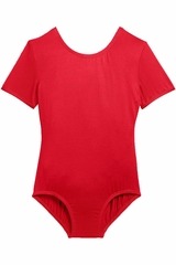 Danskin 3905 Girls Red Team Essentials Short Sleeve