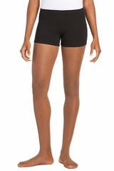 Danskin 3912 Black Nylon Boy Cut Short