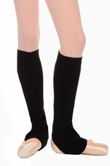 "Danskin 4079 Girl's Black 16"" Knit Legwarmers"