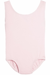Danskin 4299 Girl's Pink Nylon High Neck Tank Leotard