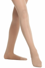 Danskin 607 Light Toast Footed Compression Tight