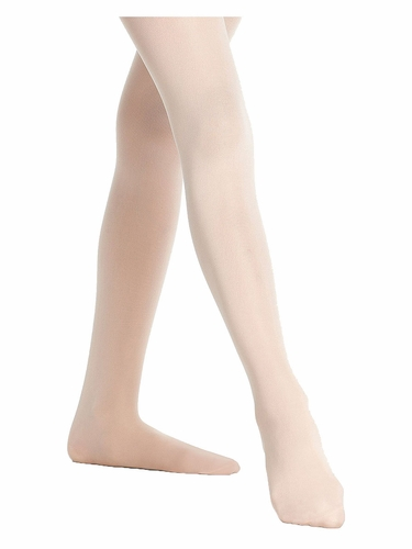 Danskin 703 Girls Ballet Pink Footed Student Tights