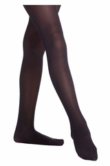 Danskin 703 Girl's Black Footed Student Tights