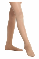 Danskin 703 Girls Light Toast Footed Student Tights