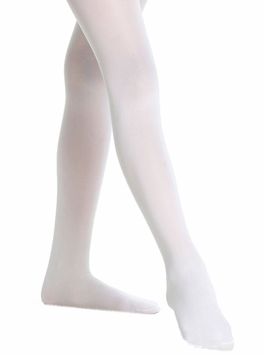 Danskin 703 Girls White Footed Student Tights