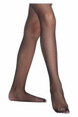 Danskin 710 Girl's Black Lightweight Fishnet Tights