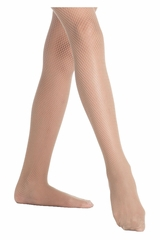 Danskin 710 Girl's Light Toast Lightweight Fishnet Tights