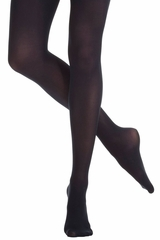 Danskin 72 Women's Ultrasoft Microfiber Black Footed Tights